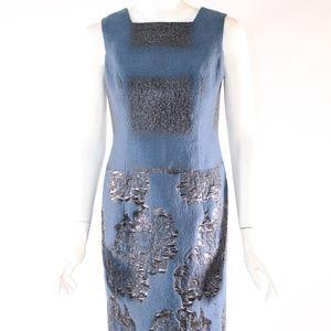 Carolina Herrera Size 4 Blue/Black Dress w/Jacket